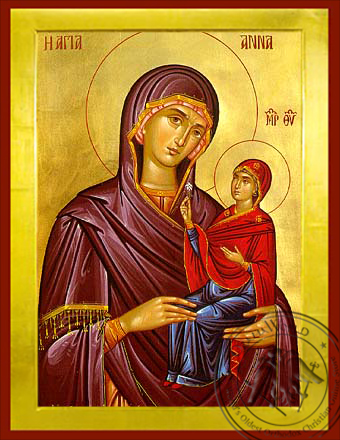 Saint Anne the Mother of Theotokou - Byzantine Icon