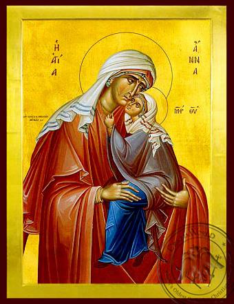 Saint Anne with Virgin - Byzantine Icon