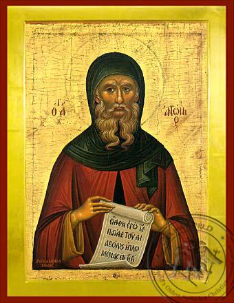 Saint Anthony the Great - Byzantine Icon