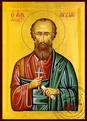 Saint Aquila the Apostle - Byzantine Icon