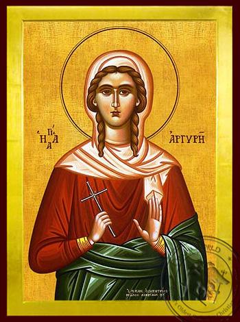 Saint Argyra, Neomartyr, of Prusa - Byzantine Icon