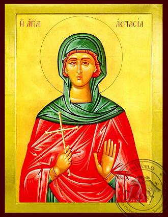 Saint Aspasia - Byzantine Icon