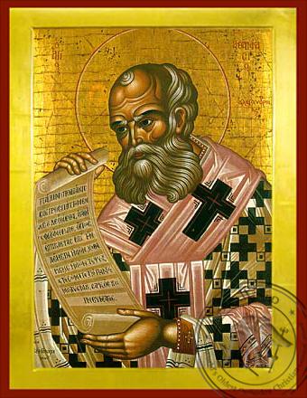 Saint Athanasius the Great, Patriarch of Alexandria - Byzantine Icon