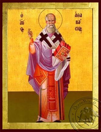 Saint Athanasius the Great Patriarch of Alexandria Full Body - Byzantine Icon