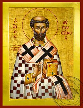 Saint Augustine - Byzantine Icon