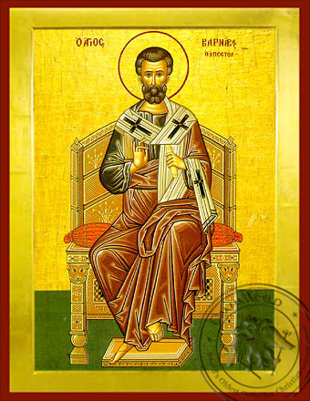 Saint Barnabas the Apostle, Enthroned - Byzantine Icon