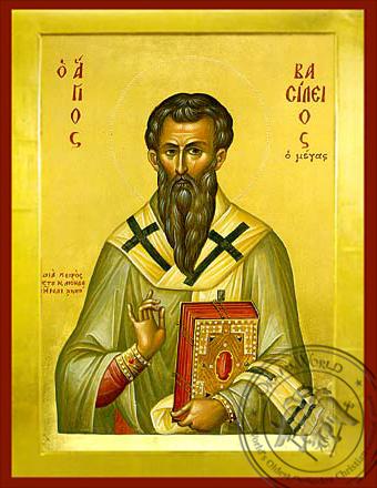 Saint Basil the Great - Byzantine Icon