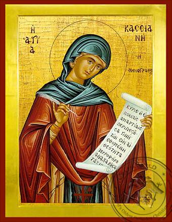 Saint Kassiani the Hymnologist - Byzantine Icon