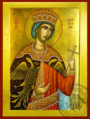 Saint Catherine - Byzantine Icon