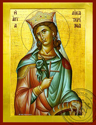 Saint Catherine the Great Martyr, of Alexandria - Byzantine Icon