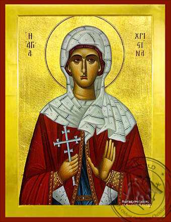 Saint Christina, the Great Martyr, of Tyre - Byzantine Icon