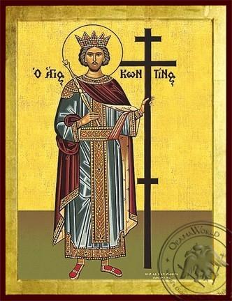 Saint Constantine the Great Full Body - Byzantine Icon