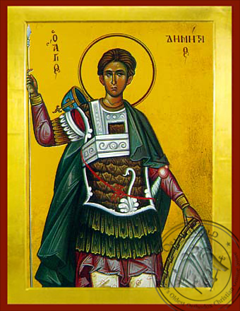Saint Demetrius the Myrrh-Gusher - Byzantine Icon