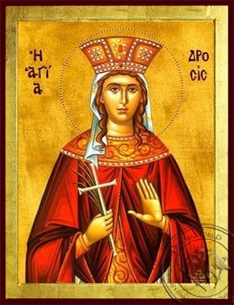 Saint Drosis (Drosida) of Antioch Martyr - Byzantine Icon
