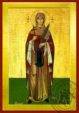 Saint Elesa of Kythera - Byzantine Icon