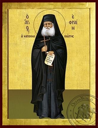 Saint Ephraim of Katounakia Mount Athos Full Body - Byzantine Icon