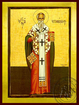 Saint Epiphanius, Bishop of Cyprus, Full Body - Byzantine Icon