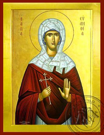 Saint Euanthia - Byzantine Icon