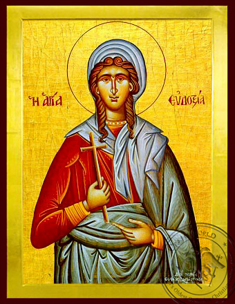 Saint Eudoxia, Martyr, at Canopus in Egypt - Byzantine Icon