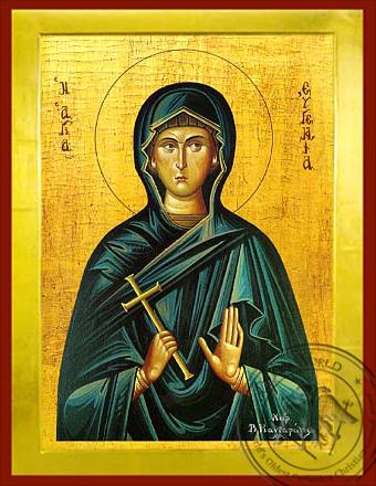 Saint Eugenia - Byzantine Icon