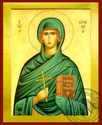 Saint Euphemia, the Great Martyr - Byzantine Icon
