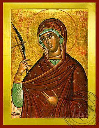 Saint Euphrosyne of Alexandria - Byzantine Icon