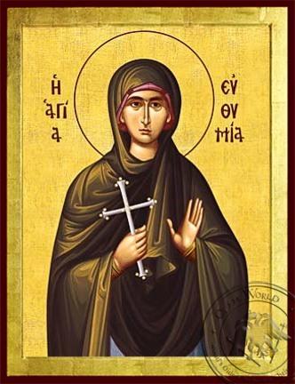 Saint Euthymia Martyr - Byzantine Icon