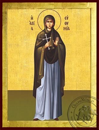 Saint Euthymia Martyr Full Body - Byzantine Icon