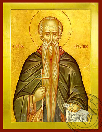 Saint Euthymios the Great - Byzantine Icon