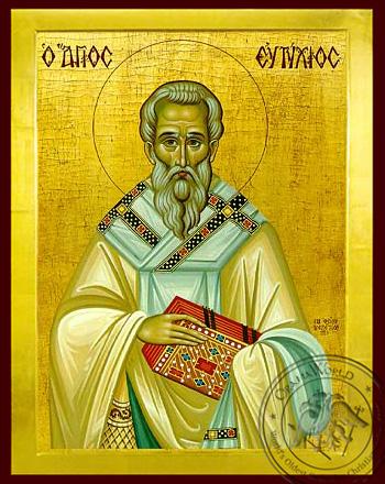 Saint Eftixios - Byzantine Icon