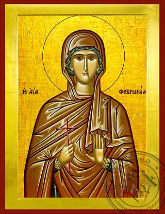Saint Phevronia - Byzantine Icon
