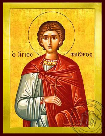 Saint Florus of Illyria, Martyr - Byzantine Icon