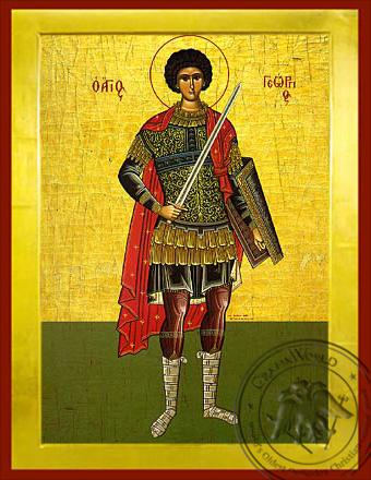 Saint George the Great Martyr, Full Body - Byzantine Icon