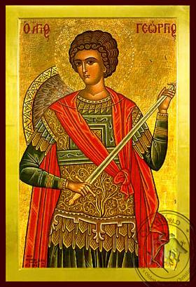Saint George the Great Martyr, Half - Byzantine Icon