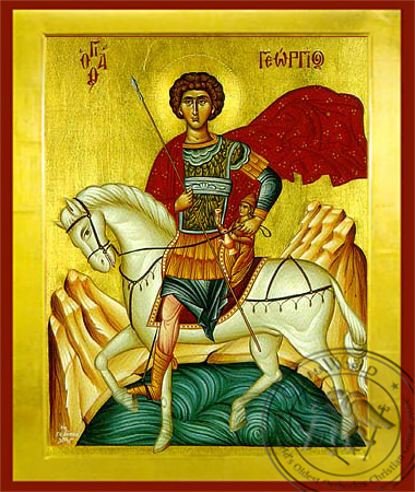 Saint George the Great Martyr, on Horseback - Byzantine Icon