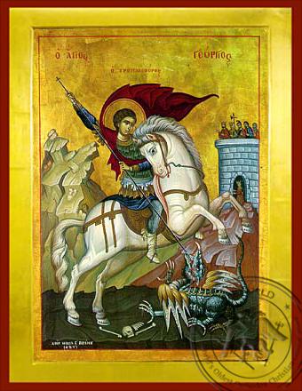 Saint George on Horseback - Byzantine Icon
