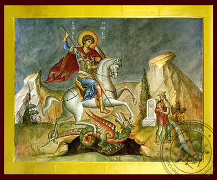 Saint George the Great Martyr, on Horseback - Byzantine Icon
