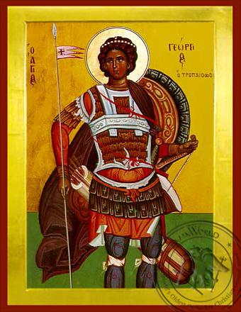 Saint George the Great Martyr - Byzantine Icon