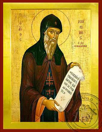 Saint Gerasimus the New Ascetic of Cephalonia, Greece - Byzantine Icon
