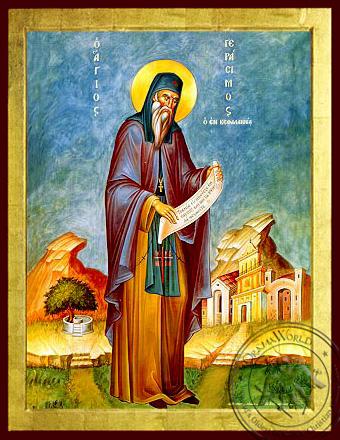 Saint Gerasimus the New Ascetic of Cephalonia, Greece, Full Body - Byzantine Icon