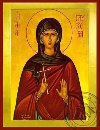 Saint Glykeria - Byzantine Icon
