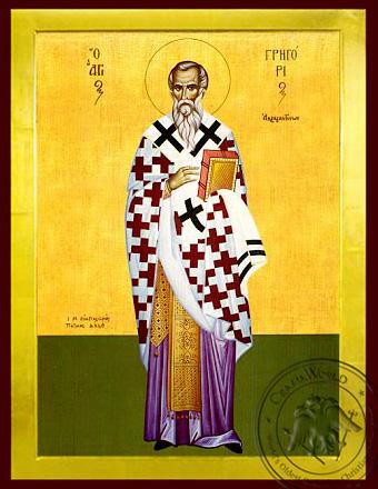 Saint Gregory, Bishop of Agrigentum, Full Body - Byzantine Icon