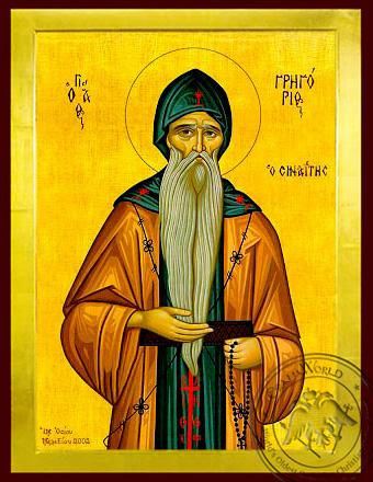 Saint Gregory the Sinaite - Byzantine Icon