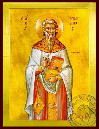 Saint Hermolaus, Hieromartyr - Byzantine Icon