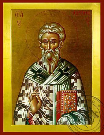 Saint Hierotheus, Hieromartyr, Bishop of Athens, Greece - Byzantine Icon