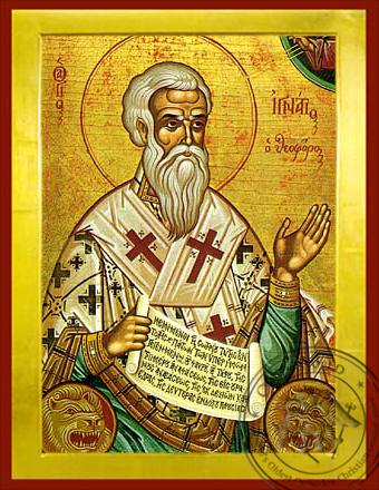 Saint Ignatius Hieromartyr, the God-Bearer, Bishop of Antioch - Byzantine Icon