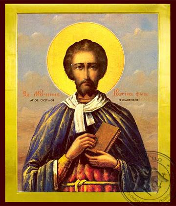 Saint Ioustinos the Philosopher - Byzantine Icon