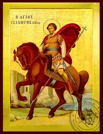 Saint Isidoros of Chios - Byzantine Icon