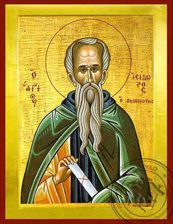 Saint Isidoros of Mount Pelousion - Byzantine Icon