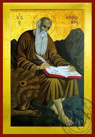Saint Hieronymus - Byzantine Icon